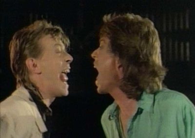 David Bowie & Mick Jager